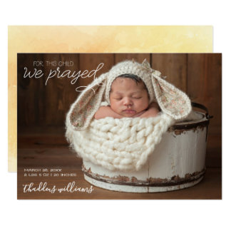 Simple White Script | Religious Easter Birth Stats Card