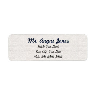 Simple White Structure Blue Name Label