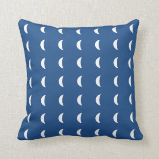 Simple White Tiled Crescent Moon Pillow