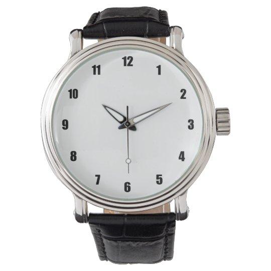 Simple White Wrist Watch