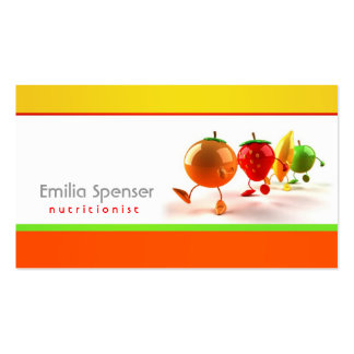 Simple White, Yellow & Orange Healthy Life Card Business Card Templates