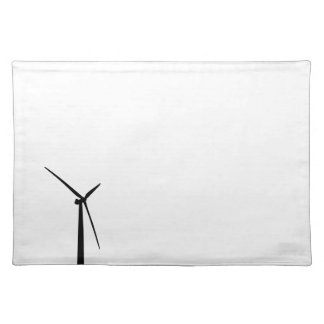 Simple wind turbine green energy silhouette mat