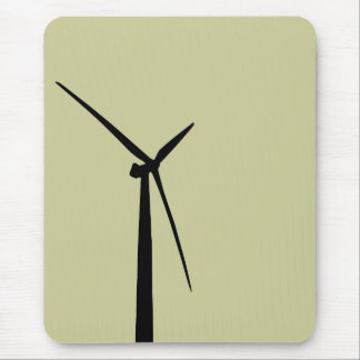 Simple wind turbine green energy silhouette mouse pad