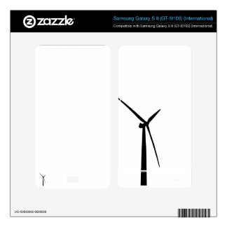 Simple wind turbine green energy silhouette skin samsung galaxy s II skins