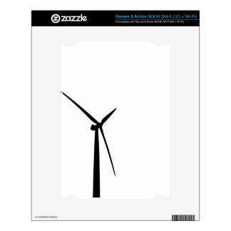Simple wind turbine green energy silhouette skin decals for NOOK