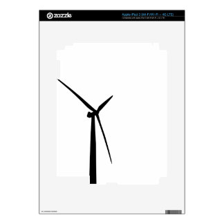Simple wind turbine green energy silhouette skin decal for iPad 3