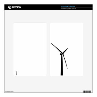 Simple wind turbine green energy silhouette skin skins for kindle fire