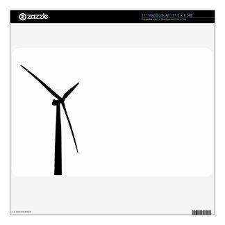 Simple wind turbine green energy silhouette skin MacBook air skin