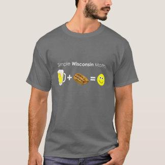 Simple Wisconsin Math T-Shirt