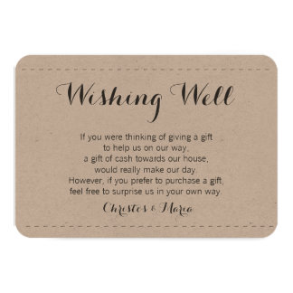 Simple Wishing Well 3.5x5 Paper Invitation Card