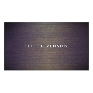 Simple Wood Minimalistic  Professional Designer Double-Sided Standard Business Cards (Pack Of 100)