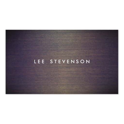 Simple Wood Minimalistic  Professional Designer Business Cards
