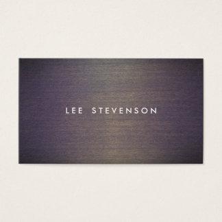 Simple Wood Minimalistic  Professional Designer Business Card