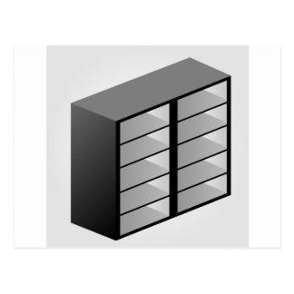 Simple wooden bookshelf design postcard