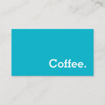 Simple Word Bright Loyalty Coffee Punch-Card