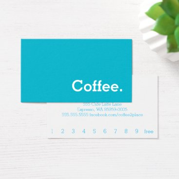 coffeepunch Simple Word Bright Loyalty Coffee Punch-Card Business Card