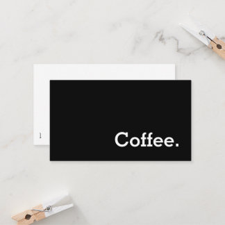Simple Word Dark Loyalty Coffee Punch-Card
