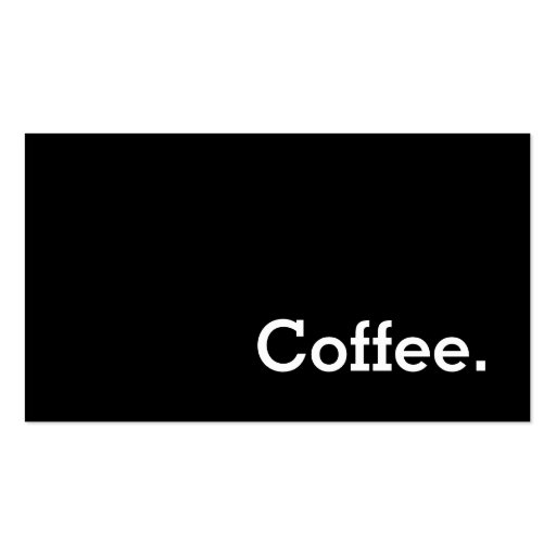 Simple Word Dark Loyalty Coffee Punch-Card Double-sided Standard Business Cards (pack Of 100)