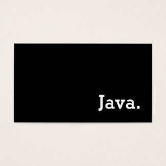 Simple Word Dark Loyalty Java Punch-Card Business Card