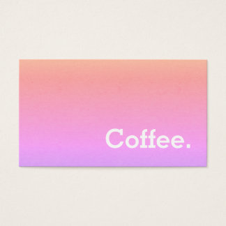 Simple Word Minima Loyalty Coffee Ipanema Business Card