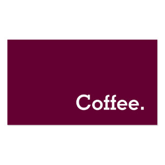 Simple Word Wine-color Loyalty Coffee Punch Double-Sided Standard Business Cards (Pack Of 100)