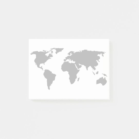 Simple world map design post it notes zazzle simple world map design post it notes gumiabroncs Images