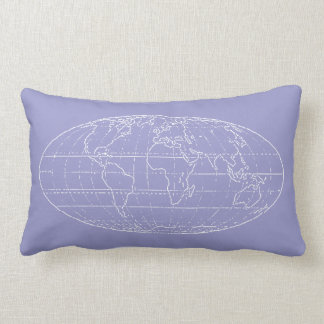 simple world map outlined throw pillow