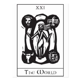 Simple World Tarot Postcard