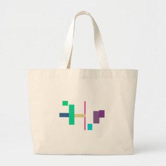 Simple y apacible bolsa tela grande