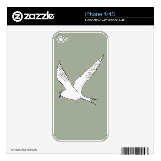 , Simple y hermosa pájaro dibujado mano moderna Calcomanías Para El iPhone 4