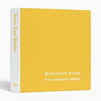 Simple Yellow 3 Ring Binder