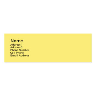 simple yellow Double-Sided mini business cards (Pack of 20)