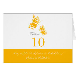 Simple Yellow Butterfly Table Place Card