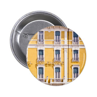 Simple Yellow Colorful Pattern of Windows Pinback Button