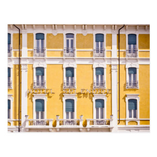 Simple Yellow Colorful Pattern of Windows Postcard