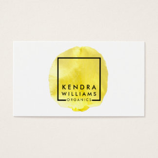 Simple Yellow Flower Petal Beauty Business Card