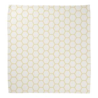 Simple Yellow Geometric Honeycomb Pattern Bandana