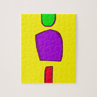 Simple Yellow Jigsaw Puzzle