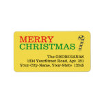 "[ Thumbnail: Simple Yellow ""Merry Christmas"" Label ]"