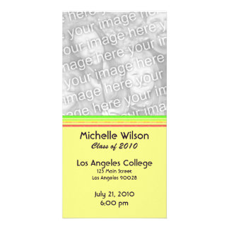 simple yellow pink green graduation card