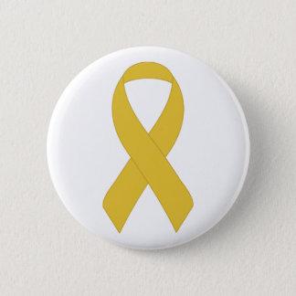 Simple Yellow Ribbon Pinback Button