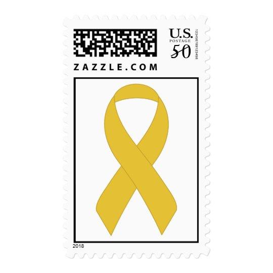 Simple Yellow Ribbon Postage