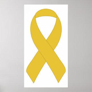 Simple Yellow Ribbon Poster
