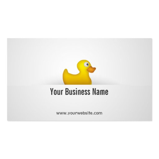 Simple Yellow Rubber Duck Business Card