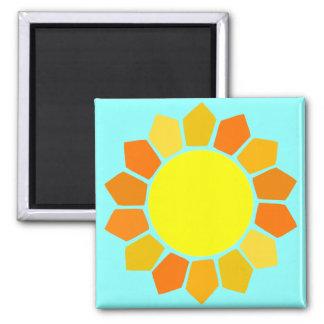 Simple Yellow Sun Magnets