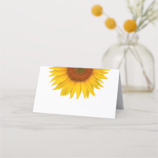 Simple Yellow Sunflower Wedding Place Card