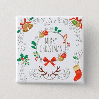 Simple yet Elegant Christmas Decoration Pin Button