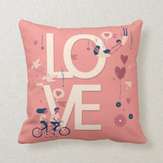 Simple yet Elegant Valentine Couples Throw Pillow