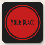 Simple Yet Sophisticated Red Coaster