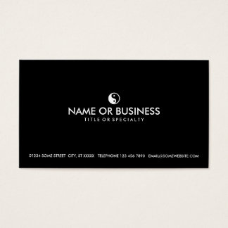 simple yin yang business card